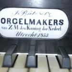Grote Orgel - detail orgelmaker